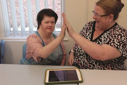 Ange and Sharon use MyChoicePad app