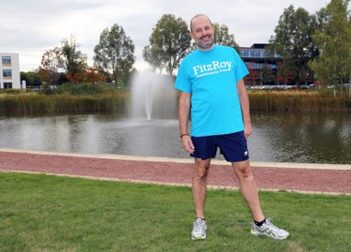 David Fawcett training for the Great South Run 2018