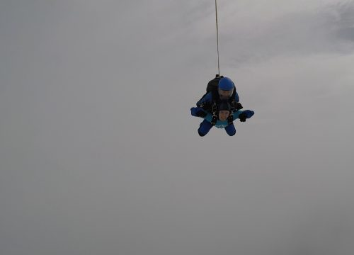 Lizzie in the air