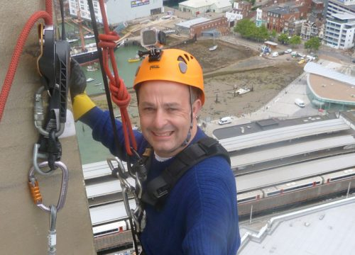 David Fawcett takes part in Spinnaker Tower Abseil for FitzRoy