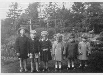 Early school picture of Michael and friends