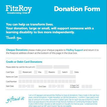 Single donation form